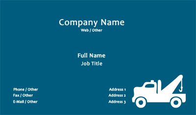 Blue Towing Business Card Template
